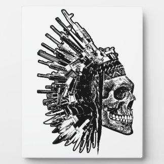 Tribal Skull, Guns and Knives display Plaque