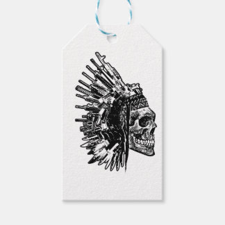 Tribal Skull, Guns and Knives Graphic T-shirt