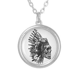 Tribal Skull, Guns and Knives Necklace