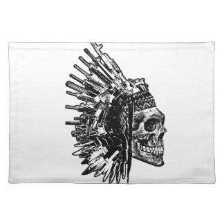 Tribal Skull, Guns and Knives Placemats