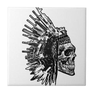 Tribal Skull, Guns and Knives tiles