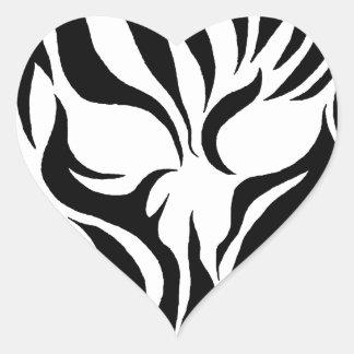 Tribal Skull Heart Sticker
