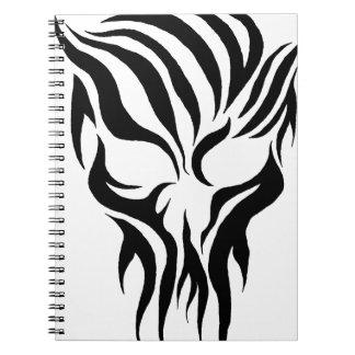 Tribal Skull Note Books