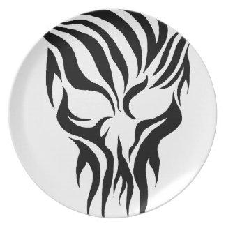 Tribal Skull Party Plates