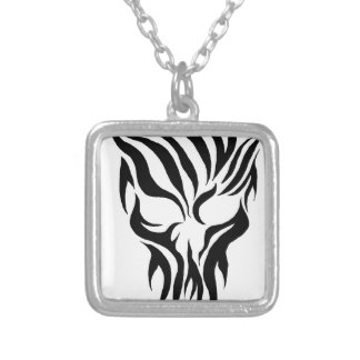 Tribal Skull Silver Plated Necklace