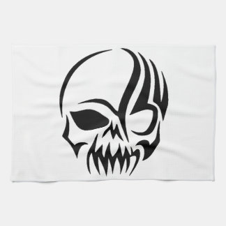 Tribal Skull Tea Towel