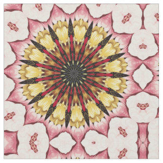 Tribal Spears and Fading Hearts Mandala Fabric