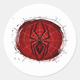 Tribal Spider Classic Round Sticker