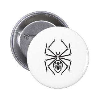 tribal spider design 6 cm round badge