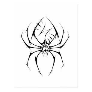 6183c9cf5 Tribal Spider Tattoo Design Postcard