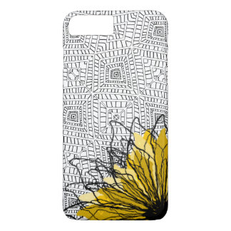 Tribal squares and yellow flower iPhone 8 plus/7 plus case