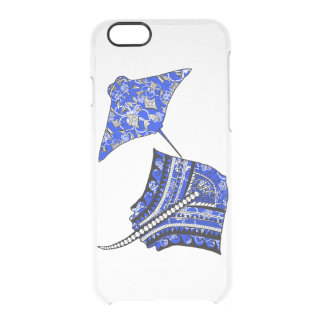 Tribal Stingrays Clear iPhone 6/6S Case
