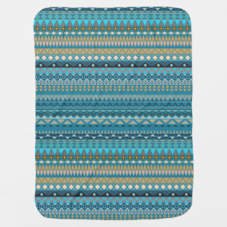 Tribal striped abstract pattern design baby blanket