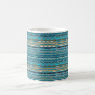 Tribal striped abstract pattern design coffee mug