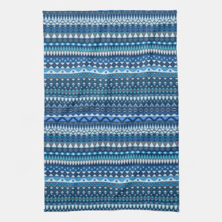 Tribal striped abstract pattern design hand towels