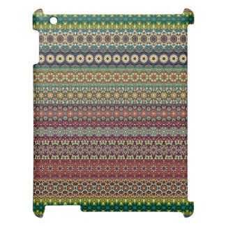Tribal striped abstract pattern design iPad cases