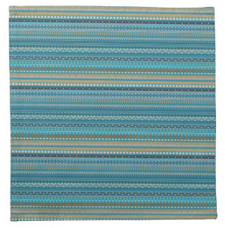 Tribal striped abstract pattern design napkin
