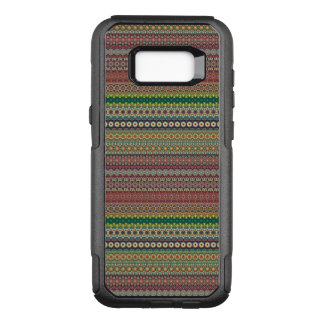Tribal striped abstract pattern design OtterBox commuter samsung galaxy s8+ case