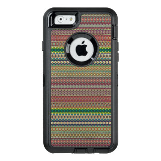 Tribal striped abstract pattern design OtterBox defender iPhone case