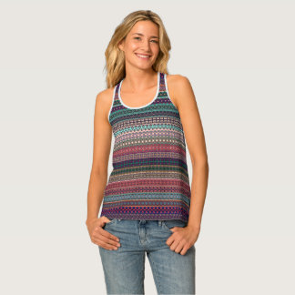 Tribal striped abstract pattern design singlet
