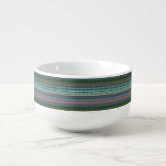 Tribal striped abstract pattern design soup mug