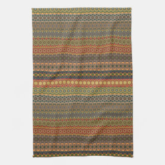 Tribal striped abstract pattern design towels
