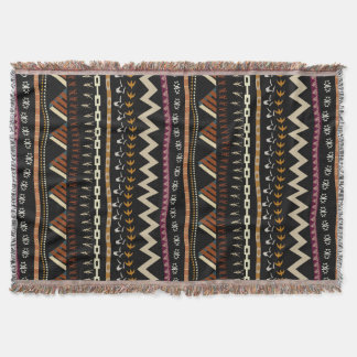 Tribal Stripes Design Throw Blanket