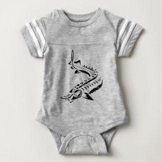 Tribal Sturgeon - Huso Beluga Baby Bodysuit