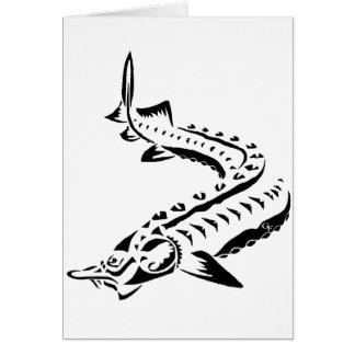 Tribal Sturgeon - Huso Beluga Card