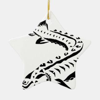 Tribal Sturgeon - Huso Beluga Ceramic Ornament