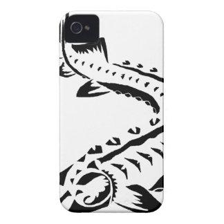 Tribal Sturgeon - Huso Beluga iPhone 4 Case