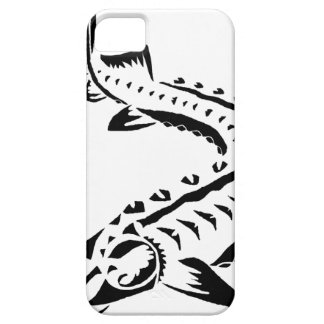 Tribal Sturgeon - Huso Beluga iPhone 5 Cases