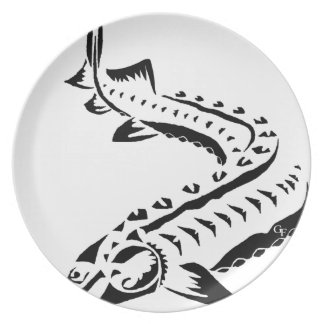 Tribal Sturgeon - Huso Beluga Plate