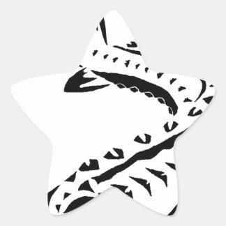 Tribal Sturgeon - Huso Beluga Star Sticker