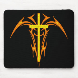 TRIBAL STYLE CROSS AND ANGEL MOUSE PAD