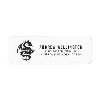 Tribal Style Dragon | Return Address Return Address Label