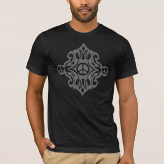 Tribal Style Peace Signs Design T-Shirt