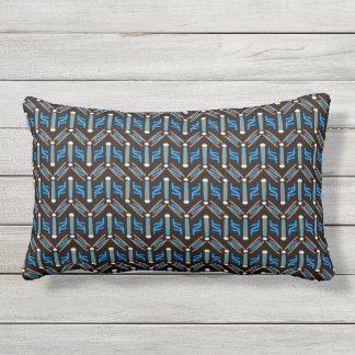 Tribal Style Turquoise Chevron Pattern Cushion