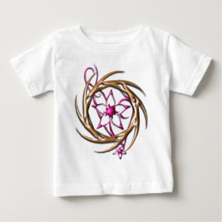 Tribal Sun around Tribal Flower T Shirt