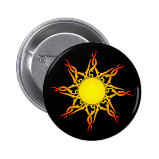 Tribal Sun Button