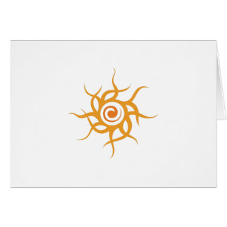 TRIBAL SUN GREETING CARD