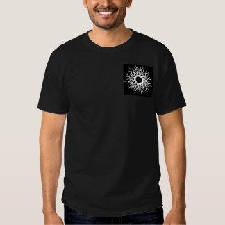 Tribal Sun Design Men Black T-Shirts