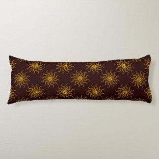 Tribal Sun Face Pattern Body Cushion