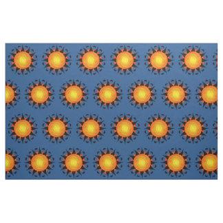 Tribal Sun in Blue Fabric