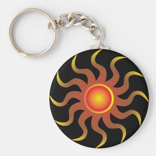 Tribal Sun Key Chain