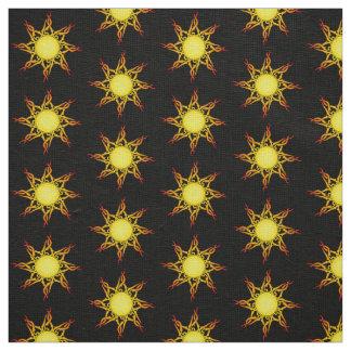 Tribal Sun Linen Fabric