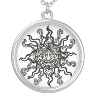 Tribal sun necklace