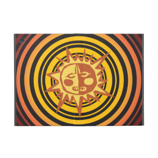 Tribal Sun Primitive Caveman Drawing Pattern iPad Mini Cases