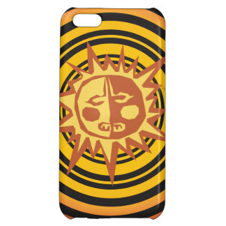 Tribal Sun Primitive Caveman Drawing Pattern iPhone 5C Cover