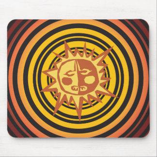 Tribal Sun Primitive Caveman Drawing Pattern Mouse Pad